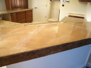 Paint Mdf Countertop : ... waterproofing MDF), Microtopping, Faux Granite Paint Layers, and Epoxy